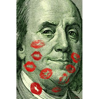 Maxwell Dickson Benjamin Hundred Dollar Bill Canvas Wall Art