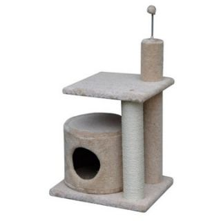 PetPal 20 x 16 x 29 in. Multi Level Cat Condo with Sisal Post   Cat
