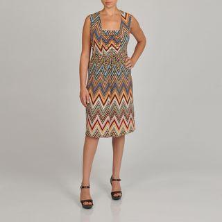 Lennie for Nina Leonard Womens Plus Printed Jersey Dress