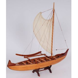OMH Handcrafted Hawaiian Canoe Model