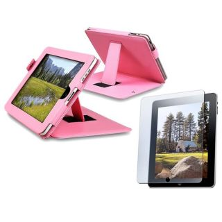 Pink Leather Case/ Screen Protector for Apple iPad Today $10.99 4.9