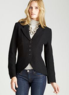 For Cynthia Button Front Blazer