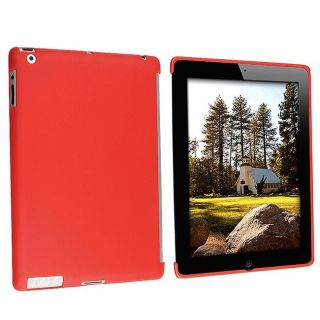 Red TPU Rubber Case for Apple iPad 2