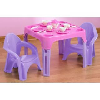 American Plastic Toys 28 pc. Tea Party Set   Kids Tables & Chairs at