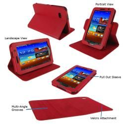 rooCASE Samsung Galaxy Tab 7.0 Plus Tablet Dual View Leather Case