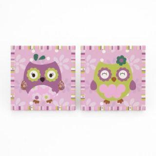 CoCaLo Owl Wonderland 2 pc Wall Art   Nursery Decor