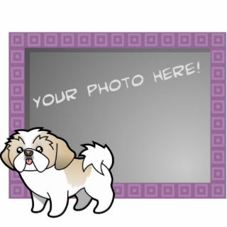 Cartoon Shih Tzu (silver parti puppy cut) Photo Sculptures