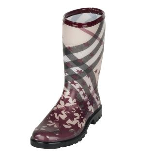 Burberry Mid calf Check and Stars Rain Boots