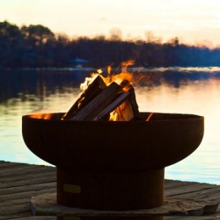 Fire Pit Art Low Boy 36 in. Fire Pit   Wood Burning Fire Pits at