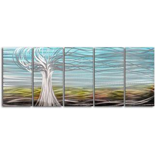 Ghostly tree 5 piece Handmade Metal Wall Art Set