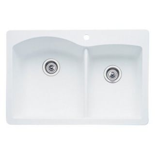 Blanco Diamond Silgranit II 1 and 3/4 Bowl Drop In Kitchen Sink