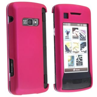 BasAcc Hot Pink Snap on Rubber Coated Case for LG enV Touch VX11000