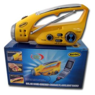 Mayday Solar Dynamo Radio with Flashlight   Emergency Essentials at