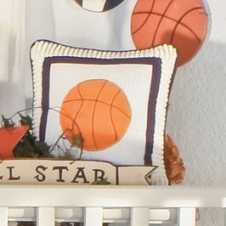 Brandee Danielle All Star Basketball Decorative Pillow   Nursery Decor