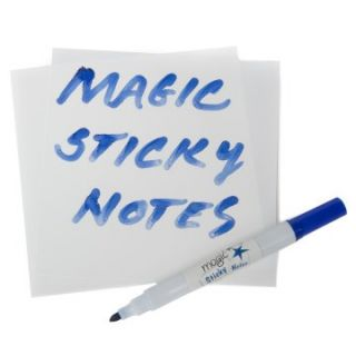 Magic Sticky Notes   Pad   50 Mini Whiteboard Sheets   Dry Erase