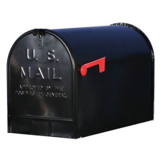 Gibraltar Jumbo Size Black Rural Mailbox   Residential Mailboxes at