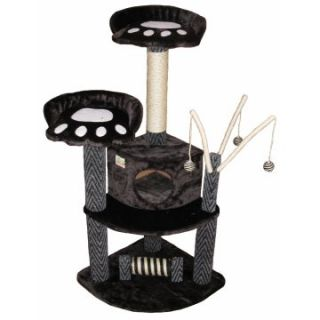 Go Pet Club Cat Tree   Black   50 in.   Cat Trees