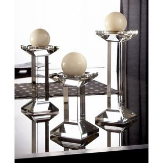 Fifth Avenue Crystal Geneva Square Candle Holders (Set of 3