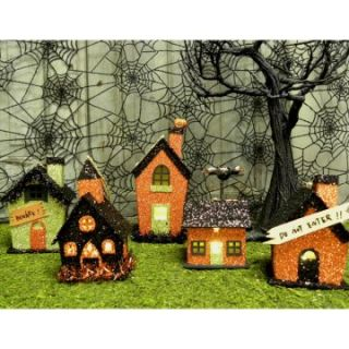 KD Vintage Halloween Village Set of 5