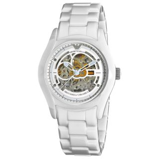Emporio Armani Ceramic Mens Skeleton Dial Watch Today $399.00