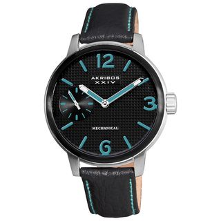 Akribos XXIV Mens Mechanical Strap Watch
