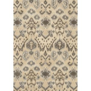 Hand tufted Arianna Cream/ Grey Wool Rug (36 x 56)