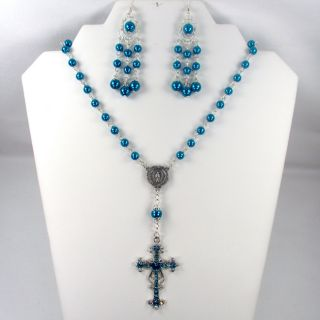 Montana Blue Catholic Wedding Jewelry Set