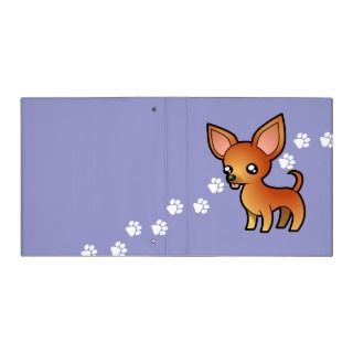 Cartoon Chihuahua (red smooth coat) binders by SugarVsSpice