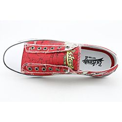 Ed Hardy Mens Lowrise Red Casual Shoes