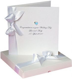 bedazzled swarovski heart wedding card boxed by made with love designs ltd