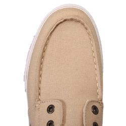 Ed Hardy Mens Del Mar Tan Canvas Boat Shoes