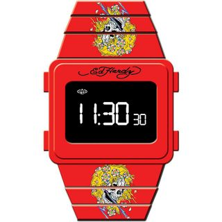 Ed Hardy Mens Beat Street Beautiful Ghost Watch