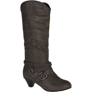 Neway Womens Heley 02 Grey Knee high Cowgirl Boots