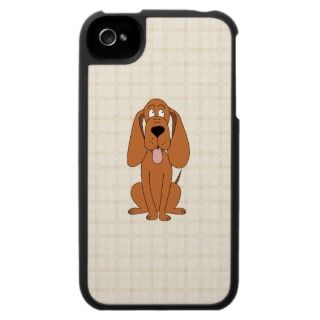 Brown Dog Cartoon. Hound. iPhone 4 Case