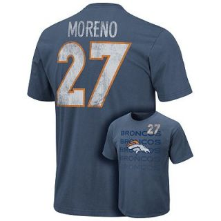 Denver Broncos Knowshon Moreno Unbalanced Line Tee   Men