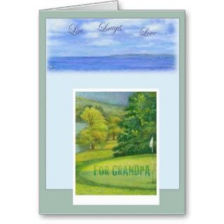 FOR GRANDPA BIRTHDAY POEM GOLF GREETING CARD