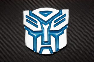 3D Transformers Autobots Logo Emblem Badge Sticker Decal Chrome Auto