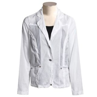 Willis Sheer Cotton Blazer   Raw Edge Trim (For Women)   Save 91%