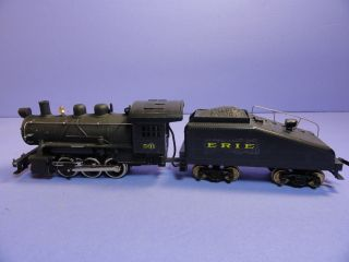 Vintage HO 501 Erie Steam Engine Tender Marx Marklin