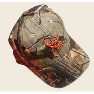 Buck Commander Camo Orange Deerhead Cap