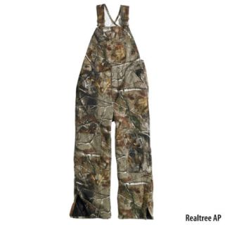 Carhartt Boys Work Camo Washed Duck Bib Overall