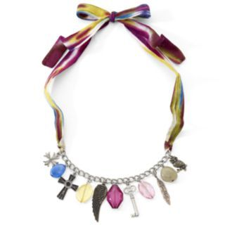 Mixit® Multi Big Gem & Color Fabric Necklace customer