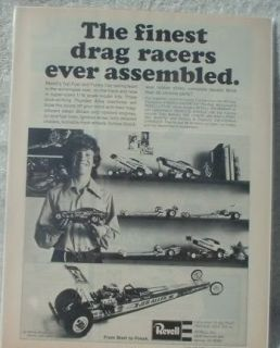 Revell Dragsters Funny Cars 1 16 Scale Original Ad 73