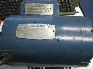 Leeson 3HP 230V Electric Motor Model A6K34DR1B