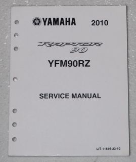 2010 Yamaha Raptor 90 ATV Service Manual YFM90RZ Factory Shop Repair