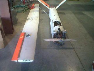 Drone Remote Control Plane Desert Aircraft Engine Wtih Bullet Holes