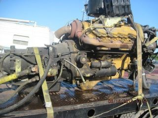 Cat 3208 Turbo Engine Complete Caterpilar 3208T Runs