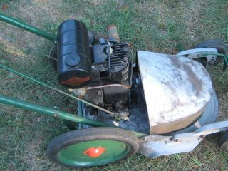 Vintage Lawn Mower Cicle Mower Root Antique Engine