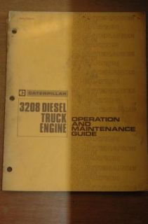 CAT Caterpillar 3208 Truck Diesel Engine Owner Operation & Maintenance