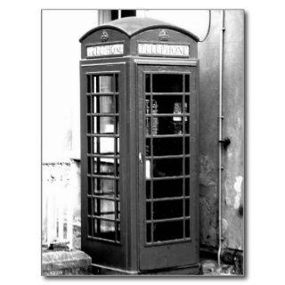 Englische Telefon Kabine Postkarten